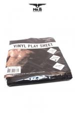 Drap de protection Vinyl Play Sheet  : Drap Vinyle étanche et solide  pour vos pratiques amoureuses accompagnées de gels, huiles, et autres liquides.