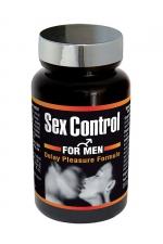 Sex control (60 gélules) : Stimulant aphrodisiaque pour hommes ultra concentré permettant de prolonger l'érection.