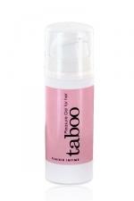 Gel Plaisir clitoridien Taboo : Le gel intime pour stimuler le clitoris et accroitre le plaisir féminin.