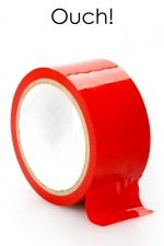 Ruban de bondage 20 m - rouge : ruban de bondage rouge (20 m), non collant, utilisable pour toutes sortes de jeux coquins, au gré de vos fantasmes.
