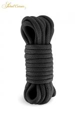 Corde de bondage noire 5m - Sweet Caress : Corde de shibari noire, spécialement fabriquée pour la pratique des jeux de bondage et ligoter votre partenaire.