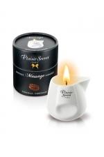 Bougie de massage - Chocolat : Bougie érotique se transformant en huile de massage sensuelle au goût gourmand de chocolat.