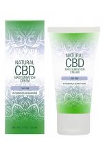 Crème de masturbation Homme - Natural CBD : Crème de masturbation pour Homme qui intensifie les sensations, à base de CBD. Flacon spray de 50 ml.