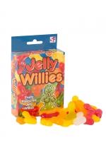 Bonbons pénis Jelly Willies : 150g de bonbons gélifiés en forme de pénis.