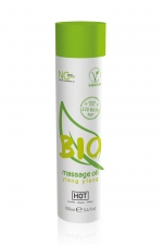 Huile de massage BIO ylang ylang - HOT : Huile de massage BIO et Végan au parfum érotique et raffiné Ylang Ylang, par HOT. Flacon de 100 ml.