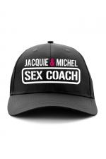 Casquette Sex Coach - Jacquie et Michel : Exclusivement destinée aux fans dotés d'un gros bagage Cul-turel, voici la casquette sex-coach de Jacquie & Michel.