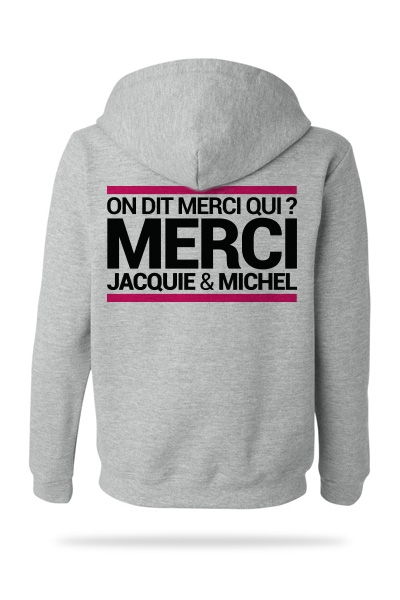 Sweat-shirt Capuche J&M gris  (taille Small)
