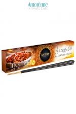 Encens aux pheromones Irresistible - Amoreane : Coffret de bâtons d'encens senteur boisée et épices est fabriqué en Espagne par Amoreane.