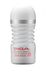 Masturbateur Rolling Head Cup Gentle - Tenga : Avec sa tête pivotante, ce masturbateur flexible offre une stimulation du gland à 360° et un serrage puissant.