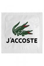 Préservatif humour - J'accoste : Préservatif J'accoste, un préservatif personnalisé humoristique de qualité, fabriqué en France, marque Callvin.