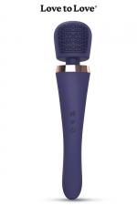 Vibro wand Brush Crush - Love To Love : Un stimulateur wand puissant et maniable, équipé d'une tête plate et texturée offrant de multiples stimulations.